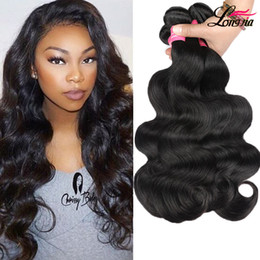 Wholesale 24 Inch Remy Hair - Grade 8A Brazilian Body Wave Unprocessed Brazilian Virgin Hair Body wave Human Hair Extension Cheap Peruvian Malaysian Remy Hair Bundles