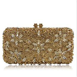 Модные бисерные сумки онлайн- Women Hard Pearl gold Clutch Bag Fashion Lady Beaded Small Evening Bag Hot Sale Bride Wedding Party Mini Shoulder Bags