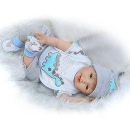 Wholesale Real Boy Doll - Pursue 55 cm Real Looking Lifelike Baby Dolls Newborn Silicone Reborn Baby Boy Dolls for Sale boneca bebe reborn menino 55 cm