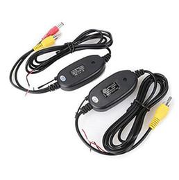 2019 câmera reversa bmw 2.4 Ghz Câmera de Visão Traseira Sem Fio RCA Video Transmissor Receptor Kit para Monitor de Monitor de Retrovisor Do Carro FM Transmissor