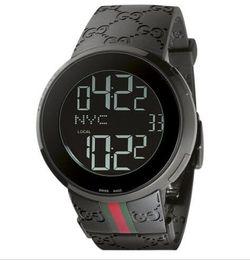 Relógio de Pulso de luxo 2018 Nova Pulseira de Borracha Digital dos homens 44mm Assista YA114207 Mens Relógios de Quartzo dos homens Relógio de Qualidade superior de Fornecedores de relógios de luxo réplicas