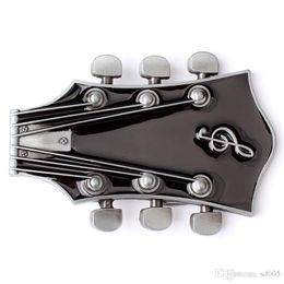 Alliage de zinc Boucle lisse Résistant à l'usure robuste Guitare Forme Boucles de ceinture Pratique Durables Ceintures Fournitures Top qualité 10ce BB ? partir de fabricateur