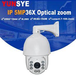 Wholesale New Ptz Ip Camera - YUNSYE 2018 NEW 7 Inch 5MP IP PTZ Camera Network Onvif Speed Dome 500W 36X Zoom PTZ IP Camera 80-150m IR Night Vision