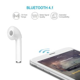 Wholesale Invisible Earpieces - HBQ i7 Twins TWS Wireless Bluetooth Earphones Invisible Headphones V4.2 Stereo Music Earbuds Phone Earpiece For Iphone X With Retail Package