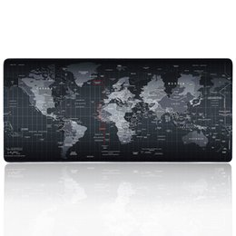 Wholesale Mouse Pad World - New World Map mouse pad Rubber large pad to notbook computer mousepad gaming mouse mats to mouse gamer