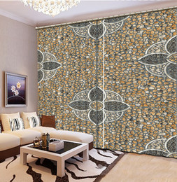 Wholesale Building Home Design - Modern Home Textile Sheer Curtains Stone Design Blackout Window Curtain Beautiful Living Room Bedroom Window Treatments Drapes