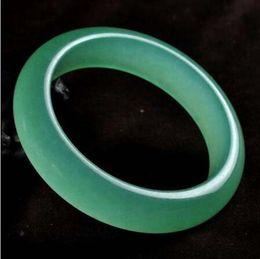 2020 fino brazalete de jade Genuino Natural Light Green Quartzite Jade Pulsera Mujer Brazalete Joyería FinaAgate Bangle rebajas fino brazalete de jade