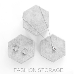 Wholesale Jewelry Holder Stand For Rings - Lanolin jewelry display holder six sides stand for jewelry rings & bracelets & earrings & necklaces gray frame 3 pieces a set
