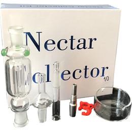 Kit de Coletor de néctar 10mm Micro NC 10mm com Vidro titânio prego Nectar Tubo de Titânio Prego cachimbo de água de fumar em estoque de Fornecedores de prateleira dobrável