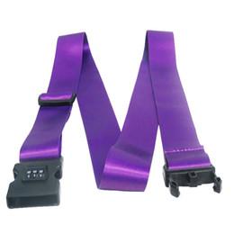 Высокое качество кодовый замок ключ багажа чемодан Безопасный Безопасный ремень Ремень ленты нейлон камера сумка ремень с пряжкой безопасности для путешественников cheap suitcase safes от Поставщики сейфы для чемоданов