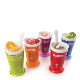 Wholesale smoothie cups - Practical Slush Shake Cup Slushy Ice Cream Maker Sorbet Smoothie Milkshake Cups Creative Design Many Colors 8kl C RZ