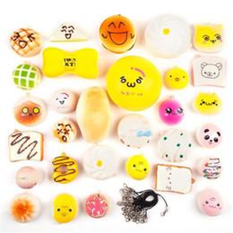Wholesale mini panda squishy - Squishy toy Phone Straps Slow Rebound Cute Mini Kawaii Decompression Jumbo Panda Bun Cute Soft Bread Cake ice Cream Gift