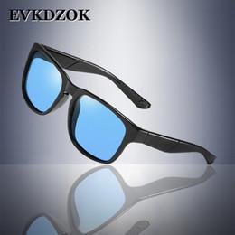 18517412e10 2019 gafas de sol de color azul para hombres 2018 Square Classic Polarized  Sunglasses men Brand