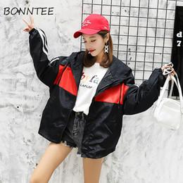 085bd6d2499 Women Jackets Thin Zipper Pockets Harajuku Hip-hop Chic Korean Style  Students All-match Patchwork BF Womens Jacket Casual Coat