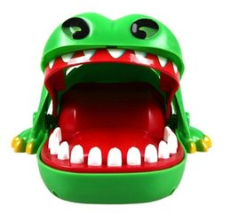 Wholesale Plastic Mouth Gag - 12% OFF Baby Toys Baby Kids Large Crocodile Mouth Dentist Bite Finger Game Funny Toy Children Comedy Gifts Brand Pranks Gags Practical Jokes