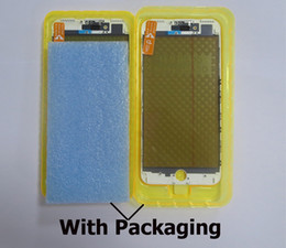 Filme polarizador iphone on-line-Original 4 em 1 tela de vidro do painel de LCD com quadro moldura + OCA + Polarizer Film Assembléia Imprensa Fria para o iPhone 7 Plus