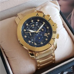 Piccoli orologi da uomo online-Vendita calda nuovo stile orologio da uomo di lusso piccolo quadrante lavoro tutti gli orologi cronografo funzione di alta qualità Designer DIAGONO orologio da polso al quarzo
