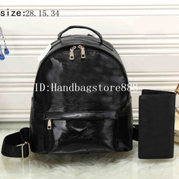 Wholesale classical backpacks - 2018 new arrival classical unisex Luxury designer backpack famous brand MICHAEL KALLY bag and wallet set female fashion shopping backpacks
