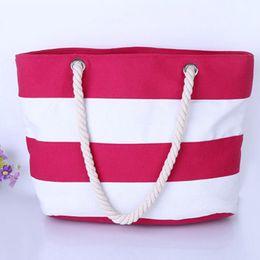 kunststoffträger Rabatt Frauen Strand Tasche Mode Farbe Streifen Handtaschen Damen Große strand handtasche Totes Lässig Einkaufstaschen geldbörsen