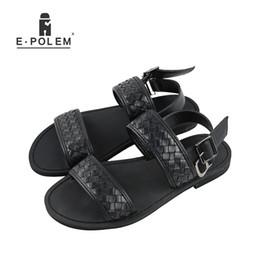 141a45edbd69e4 Fashion Sandals Men 2017 Vintage Rome Style Summer Beach Breathable Casual  Solid Men Sandals Genuine Leather Men Casual Shoes