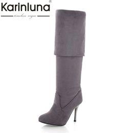 d6952e92 gran bota sexy Rebajas Karinluna Big Size 34-43 Botas de tacón alto para  mujer