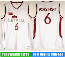 HOT New 6 Latvija Team Kristaps Porzingis Jersey Mens Basketball Jersey  White Vintage stitched Shirt Classic european 2f6d3f540