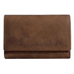 Wholesale Monedero para hombres cuero genuino elegante monedero llave del coche caja gancho de bucle monedero funda billetera broche de presión s281
