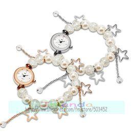 pontos de quartzo atacado Desconto 100 pçs / lote elegância starfish frisado pulseira de relógio para as mulheres venda quente de cinco pontas estrela envoltório relógio de quartzo atacado relógio