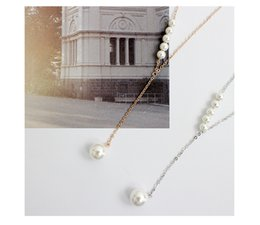 Wholesale S925 Pure Silver - Hot Sales S925 Pure Silver Single Pearl Pendant Necklace