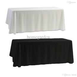 Al por mayor-mantel de mesa blanco negro para banquete de boda decoración del banquete 145x145cm desde fabricantes