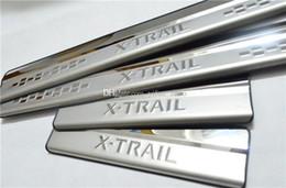 Wholesale Door Sill Scuff Plate Nissan - NEW Car styling Door Sill Scuff Plate Trim Protector For Nissan 2014 X-Trail X trail Rogue T32 2014