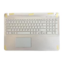 ABD Laptop klavye için Vaio SVF15 FIT15 SVF151 SVF152 SVF153 SVF1541 SVF15E beyaz Palmrest Kapak Touchpad ile cheap vaio laptops nereden vaio dizüstü bilgisayarlar tedarikçiler