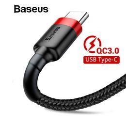 conectores de imersão Desconto Baseus usb tipo c cabo para samsung galaxy s9 s8 mais carga rápida qc3.0 usb c cabo de dados de carregamento para one plus 6 5 t