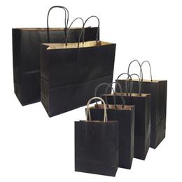 saco de cosmético plano Desconto 20 pçs / lote sacos de presente com alças multi-função high-end sacos de papel preto 6 tamanho reciclável saco de proteção ambiental