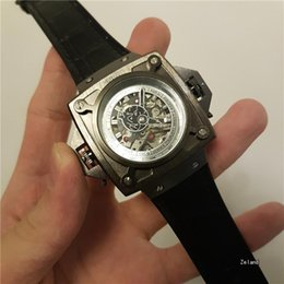 Wholesale Square Silicone Fashion Watches - AAA latest of the silicone strap fashion Big dial Swiss men Automatic Mechanical Wristwatches men military sports watch HOT