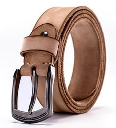 2018 cinturones vintage para mujeres de los hombres de lujo 100% real de  alta calidad de grano completo pantalones vaqueros de cuero marrón vaquero  casual ... eb64b0d7bc3f