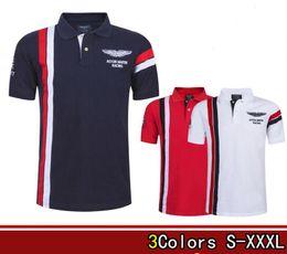 2020 cuello alto polo hombres 2019 hombres Polos cuello de cobertura camisetas de alta calidad camisa de POLO de algodón de manga corta Aston Martin de lujo rebajas cuello alto polo hombres