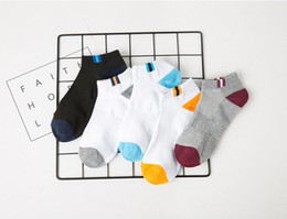 Wholesale Boys Slippers Socks - Spring Summer Simple Design Prints Cotton Low Ankle Socks No-show Soft and Comfort Sports Sock for Men Boy, 5 Pairs Pack