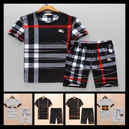 2019 grüner gelber trainingsanzug 2018 Designer Luxus Herren Trainingsanzüge T-shirt + Pant Sportbekleidung Mode Sets Kurzarm Lauf Größe M-XXXL