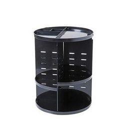 2019 espelhos de exibição grossistas Rotativa cosméticos rack de vestir mesa de armazenamento de desktop colocar produtos de cuidados da pele prateleira rack de armazenamento de plástico