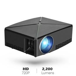 Video player de entrada on-line-Mini Projetor de Vídeo Projetor LCD Filme Projetores de Suporte 1080 P USB / SD / AV / Entrada HDMI / VGA HD Projetor para DVD Player PS4 Xbox Home Theater