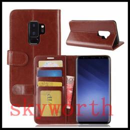 soporte para fotos Rebajas Para iPhone X 8 7 Plus Vintage Retro Flip Stand billetera funda de cuero con marco de la correa cubierta del teléfono para Samsung S9 S8