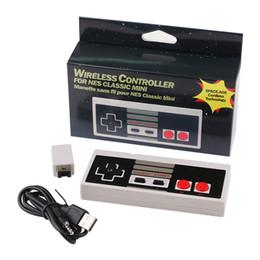 Mini controlador sem fio on-line-2.4GHz Wireless Gamepad para Mini NES Plug and Play Gaming Controller para NES Classic Edition Joystick Controller Com Receptor com Caixa