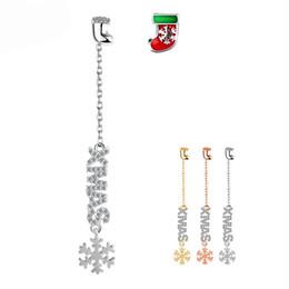 christmas gift girlfriend nz fashion 925 christmas letter pierced earrings sterling silver drop dangle irregular