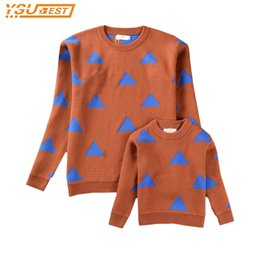 Wholesale Sweater Mother Daughter - 2017 New Spring Autumn winter Bobo Style Family Matching Outfits Mother And Daughter Long Sleeve Sweaters Boys Sweaters
