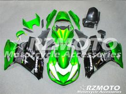 Wholesale Bike Body Fairings - 3 Free gifts New ABS bike Fairing Kits 100% Fitment For Kawasaki Ninja ZX14R 2006 2009 2011 10R 06 07 08 09 10 06-11 Body work set Green V1