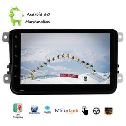 Vw schlag bluetooth online-Für VW Android6.0 Auto Stereo In Dash Navigation GPS Autoradio Doppel-Din KEIN DVD-Player AM FM Radio WiFi Mirrorlink-Kamera