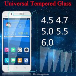 4,5-zoll-bildschirm-handy online-Ultradünne Universal-Premium-Hartglasfolie für 4,0 4,3 4,5 4,7 5,0 5,3 5,5 5,7 Zoll Handy-Frontfolie
