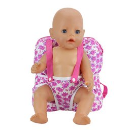 Wholesale Backpack For Dolls - Outgoing Packets Outdoor Carrying Doll Backpack Suitable for Carrying 43cm Baby Born Zapf Doll and American Girl