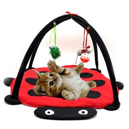 Wholesale Toys Gate - Funny Pet Cat Toys Portable Cat Tent Toys Mobile Activity Pets Play Bed Toys Cat Play Mat Blanket House Foldable Kitten Tents